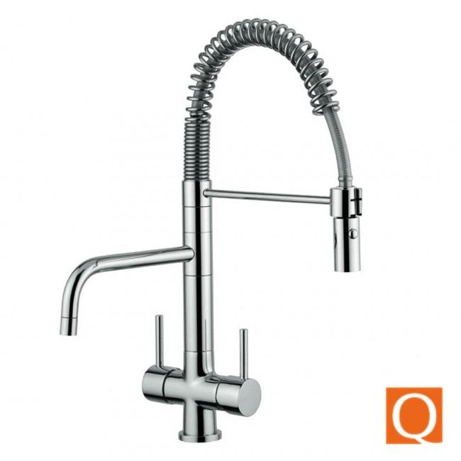 Osmio Azzurra Breve 3 Way Tri Flow Kitchen Tap Spray Hose