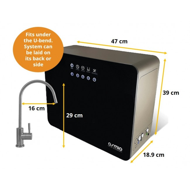 Osmio D7 System and Tap Dimensions