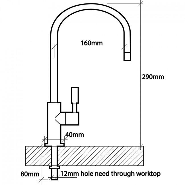 Osmio Filter Tap Dimensions