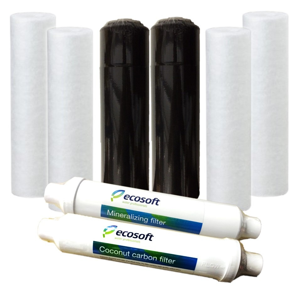 Ecosoft 6 Stage RO system Replacement Bundle
