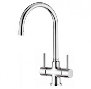 Osmio Chiara Chrome 3-Way (Tri-flow) Kitchen Tap