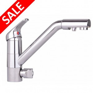Cosmo Long Reach 3 Way Triflow Kitchen Tap