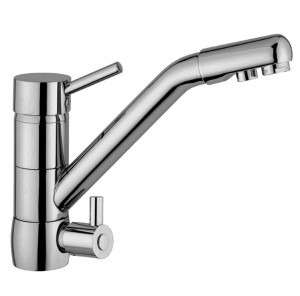 Osmio Sofia Brushed Long Reach 3 Way Triflow Kitchen Tap