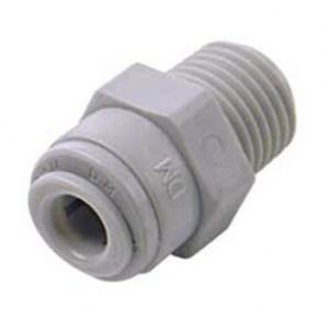 "Straight 1/4"" MNPT Male to 1/4"" Push Fit Connector"