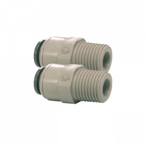 "1/4"" Push Fit to 1/4"" Male Straight Connector Dual Pack"
