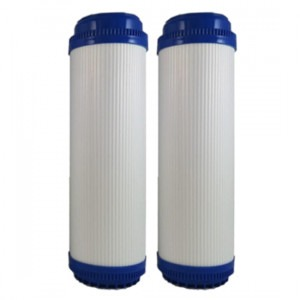 Osmio 2.5 x 10 Inch Granular Activated Carbon Filter Dual Pack