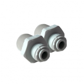 """1/4"""" Push Fit to 1/2"""" Male Straight Connector Dual Pack"""