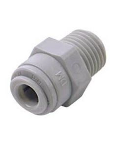 """Straight 1/4"""" NPT Male to 1/4"""" Push Fit Connector"""