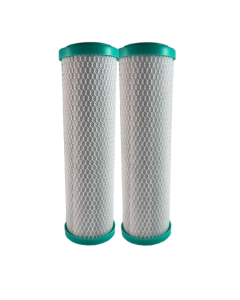 "Osmio 2.5"" x 10"" Carbon Block 5 Micron Filter Dual Pack"