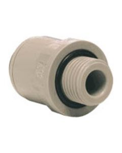 "3/8"" Pushfit x 3/8"" BSP/NPTF Male Straight Adapter"
