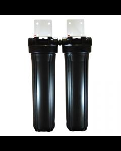 Osmio Black Line 4.5 x 20 Inch Dual Full Flow Housing