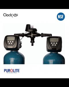 Purolite 40L Duplex Water Softener 10 x 44 Inch 27 LPM