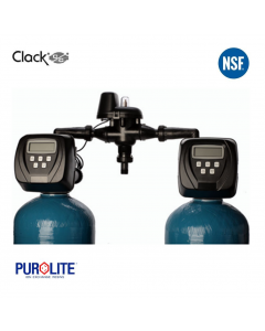 Purolite 100L Duplex Water Softener 14 x 65 Inch 67 LPM