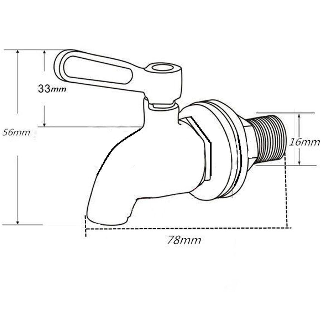 Propur Stainless Steel Spigot Dimensions